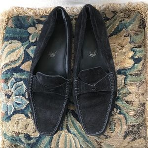 Tod's Black Suede Driving Loafers Size 38.5 US 9